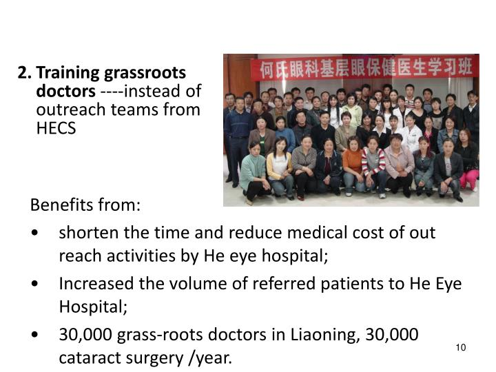 Training grassroots doctors