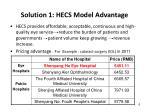 solution 1 hecs model advantage