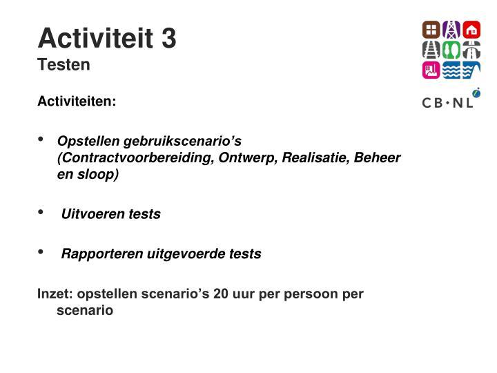 Activiteit 3
