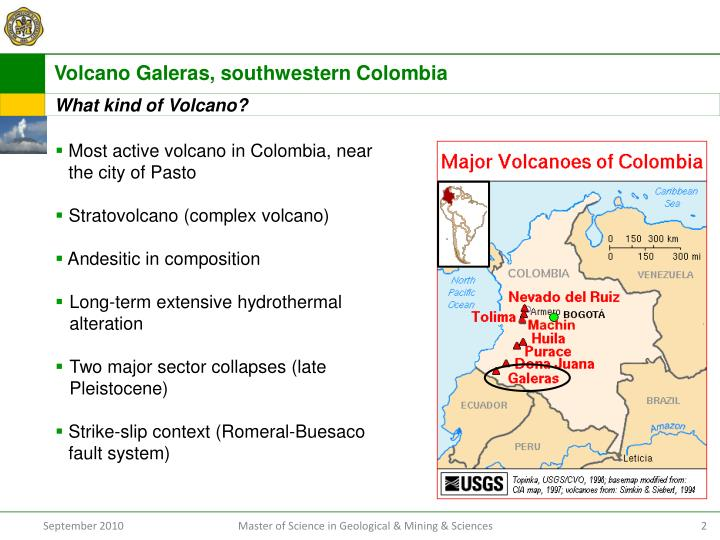Volcano Galeras, southwestern Colombia