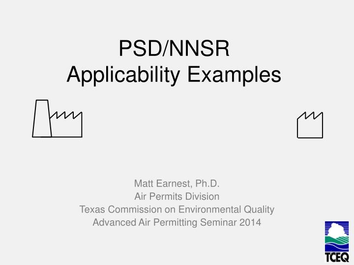 Psd nnsr applicability examples