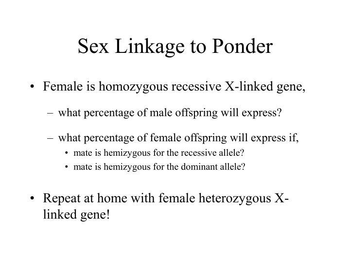 Sex Linkage to Ponder