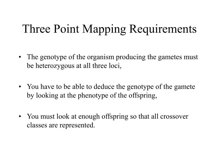 Three Point Mapping Requirements