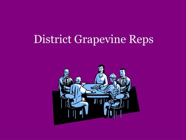District Grapevine Reps