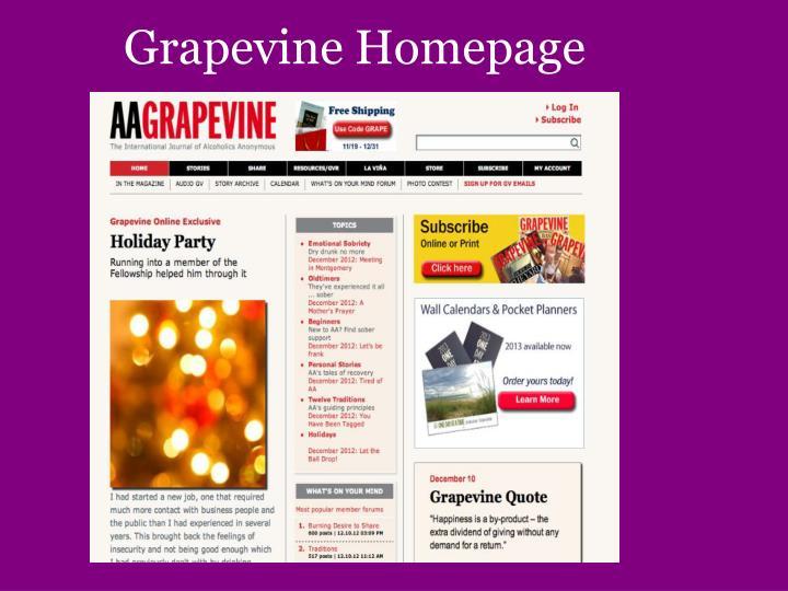 Grapevine Homepage