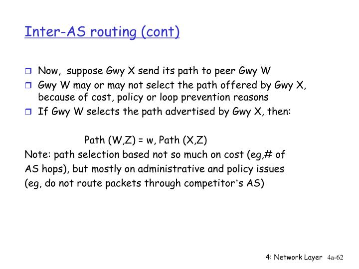 Inter-AS routing (cont)