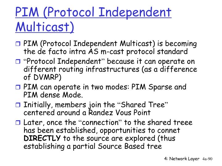 PIM (Protocol Independent Multicast)
