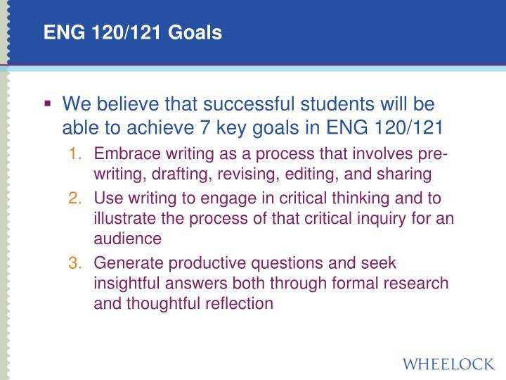 ENG 120/121 Goals