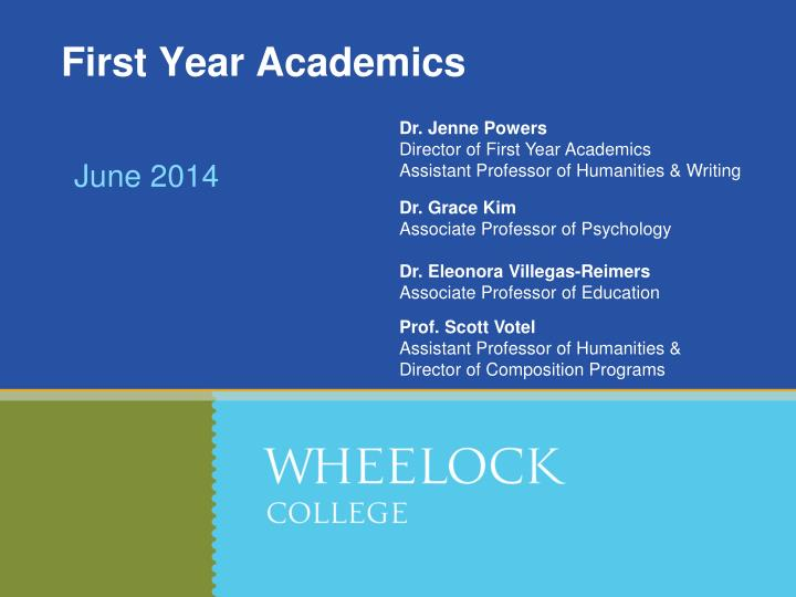first year academics