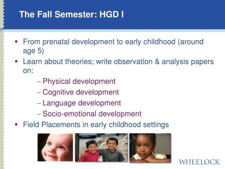 The Fall Semester: HGD I