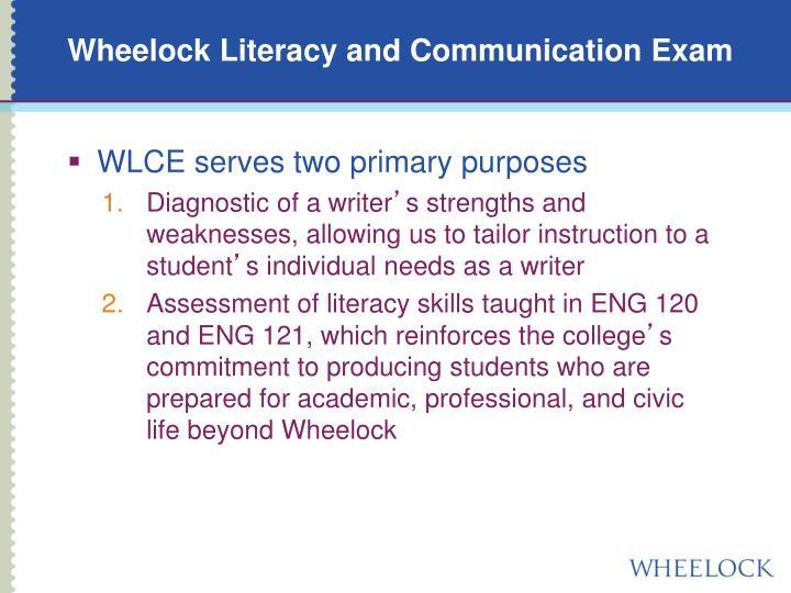 Wheelock Literacy and Communication Exam
