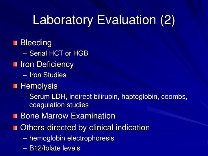 Laboratory Evaluation (2)