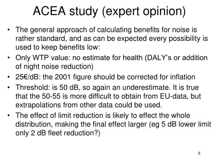 ACEA study (expert opinion)