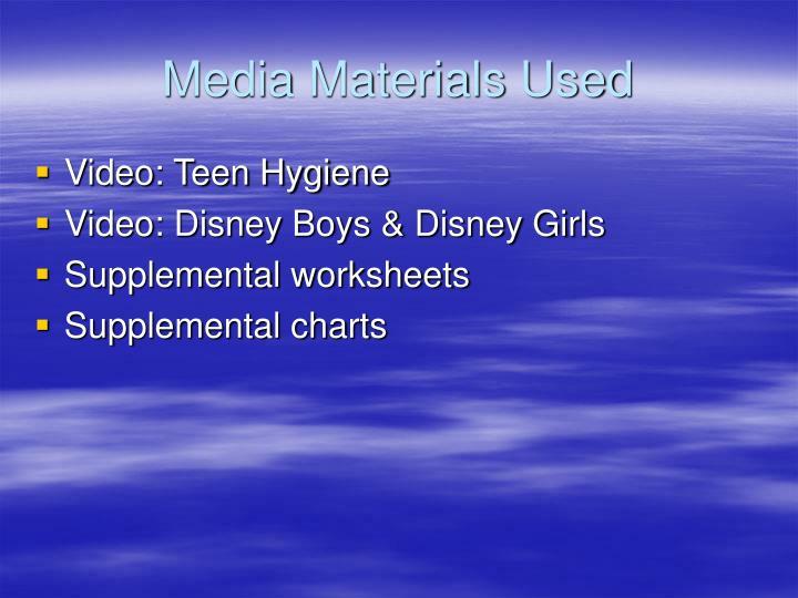 Media Materials Used
