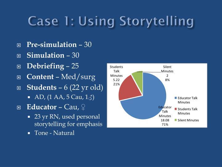 Case 1: Using Storytelling
