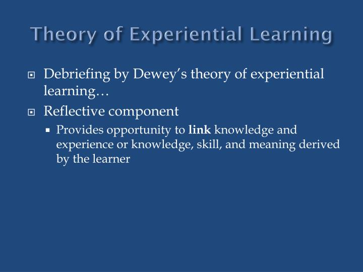 Theory of Experiential Learning