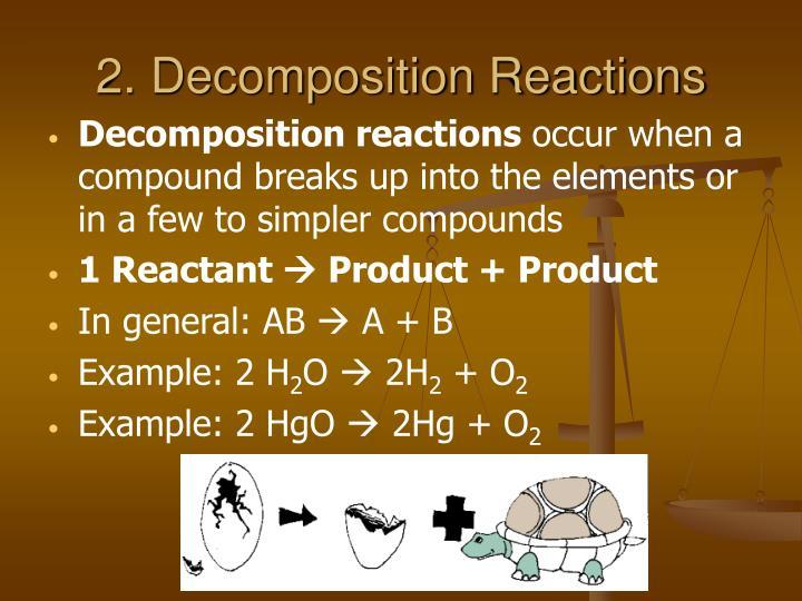 2. Decomposition Reactions