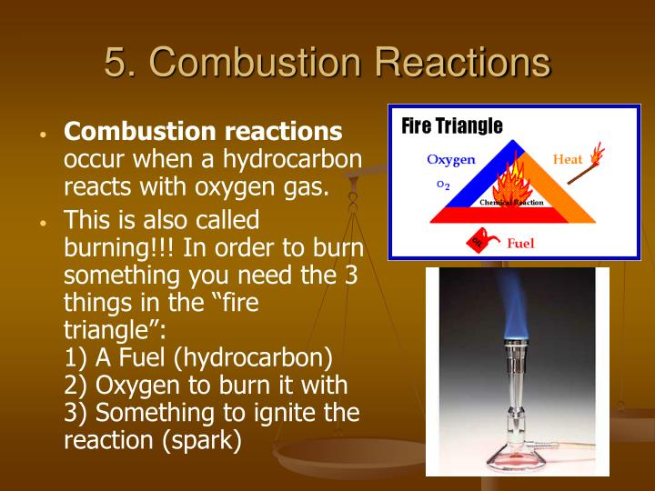 5. Combustion Reactions