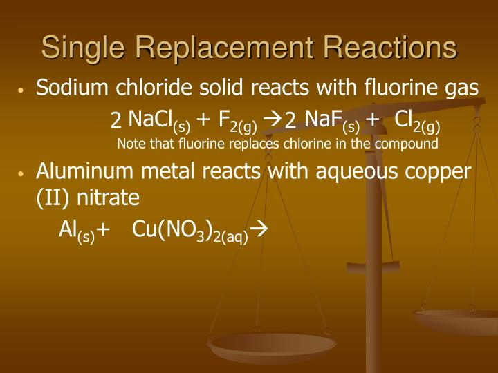 Single Replacement Reactions