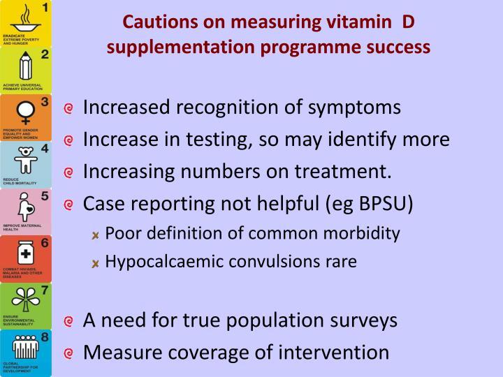 Cautions on measuring vitamin  D supplementation