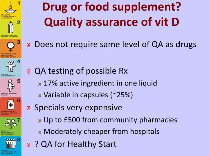 Drug or food supplement?