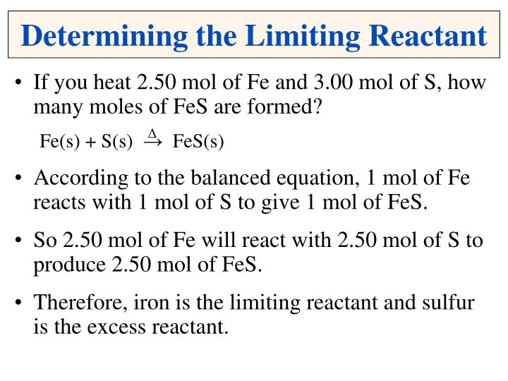 Determining the Limiting Reactant