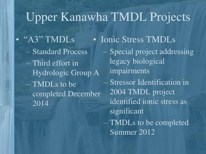 Upper Kanawha TMDL Projects