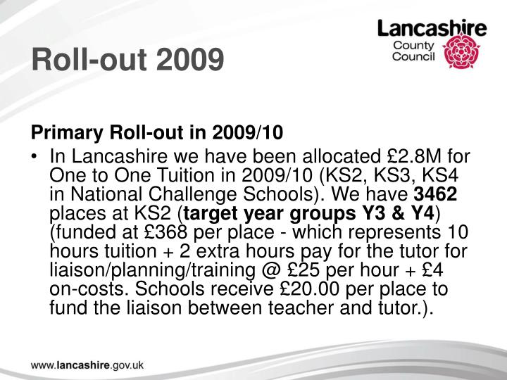 Roll-out 2009