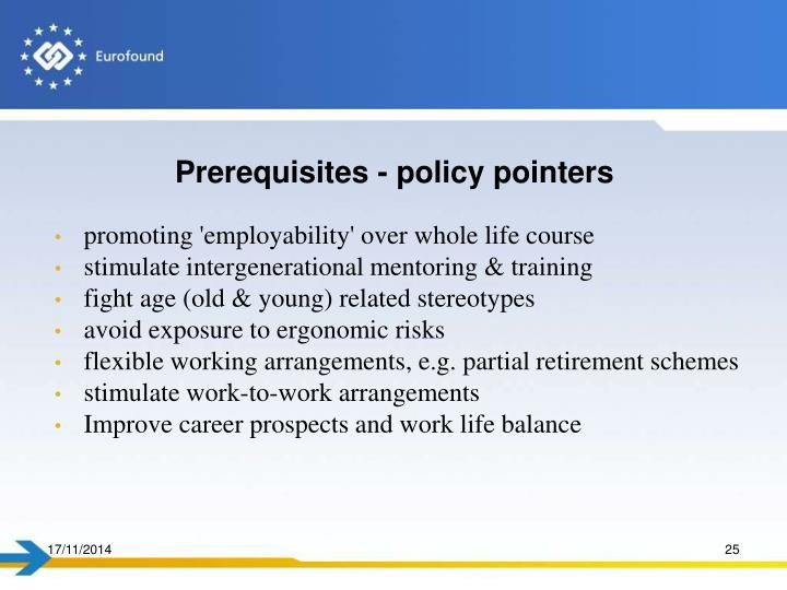 Prerequisites - policy pointers