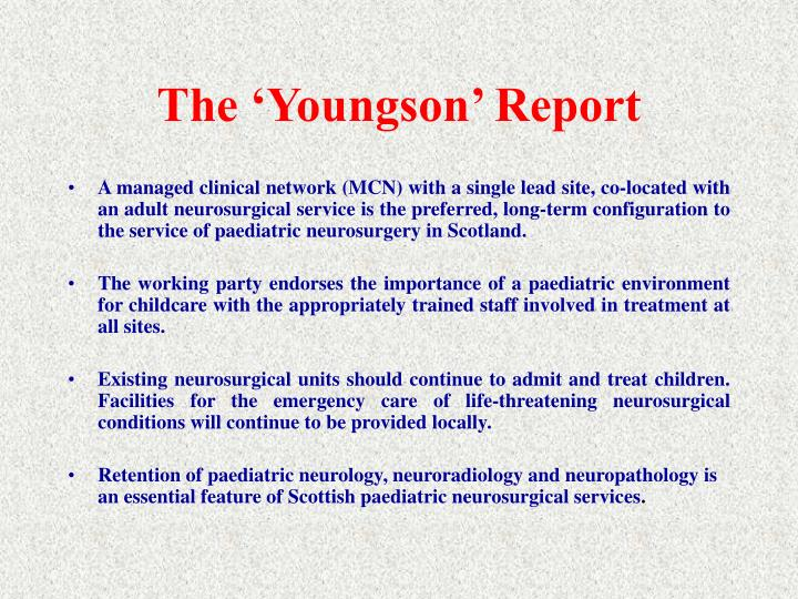 The 'Youngson' Report