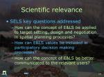 scientific relevance1