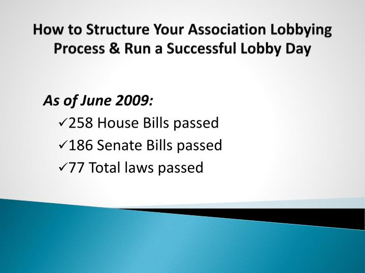 How to structure your association lobbying process run a successful lobby day1
