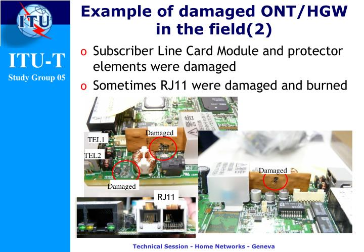 Example of damaged ONT/HGW