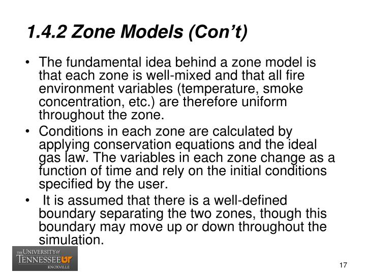 1.4.2 Zone Models (