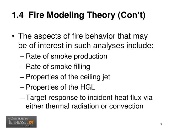 1.4  Fire Modeling Theory (