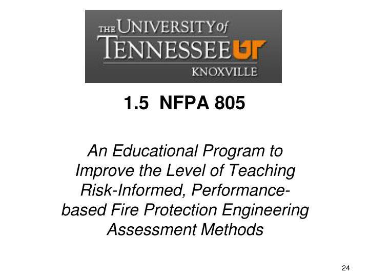 1.5  NFPA 805