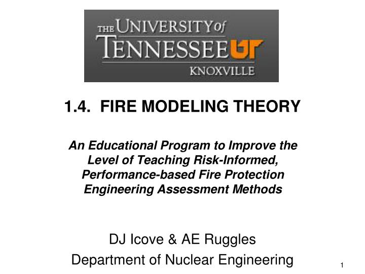 dj icove ae ruggles department of nuclear engineering