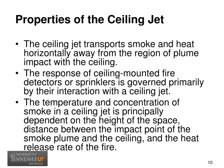Properties of the Ceiling Jet