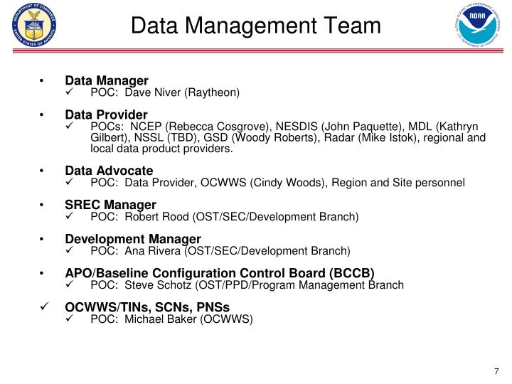 Data Management Team