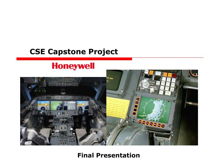 CSE Capstone Project