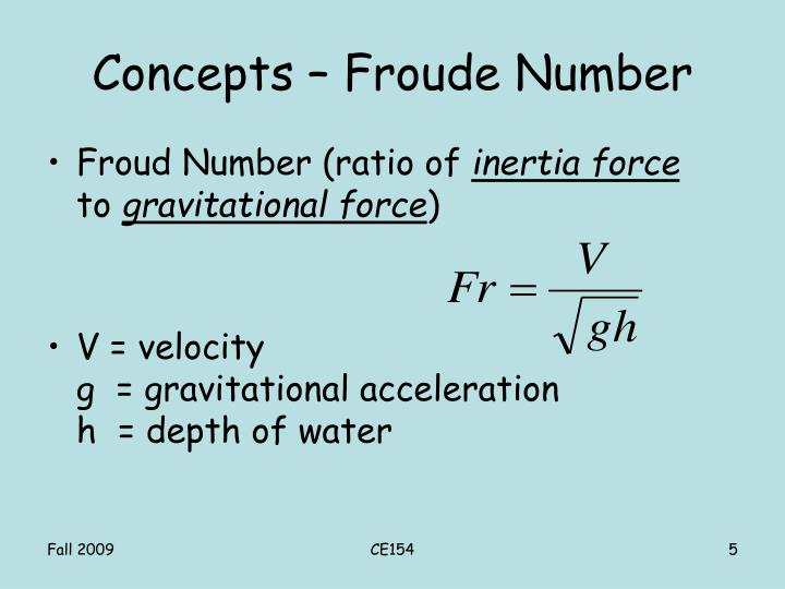 Concepts – Froude Number