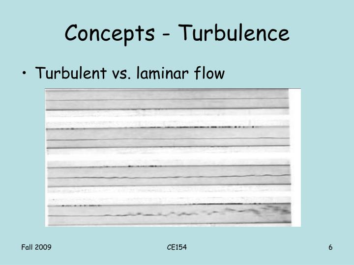 Concepts - Turbulence