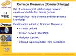 common thesaurus domain ontology