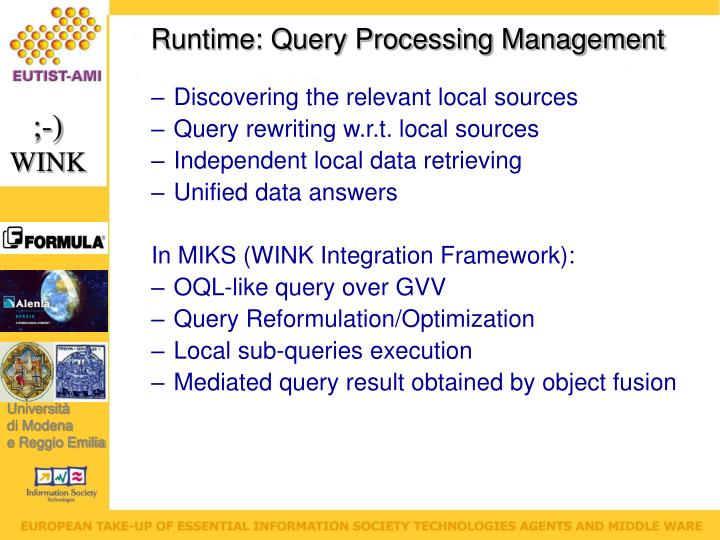 Runtime: Query Processing Management