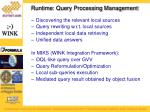 runtime query processing management
