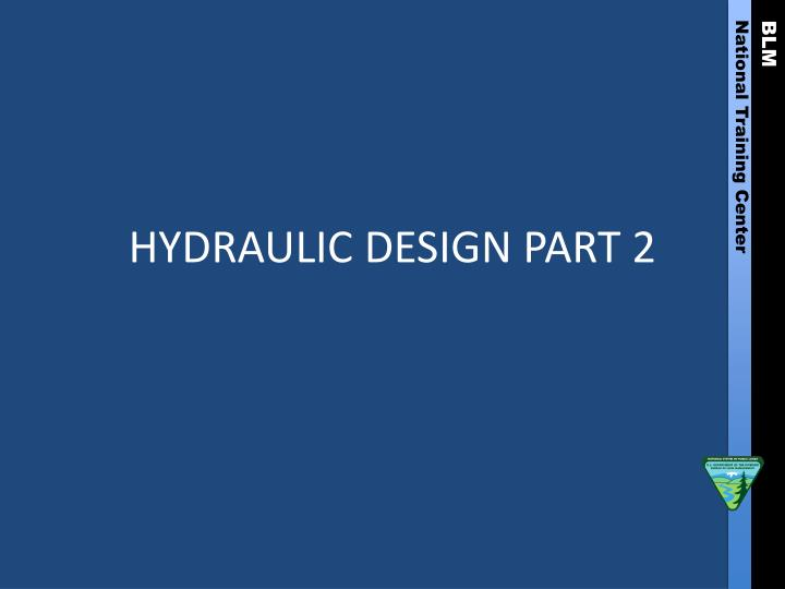 hydraulic design part 2