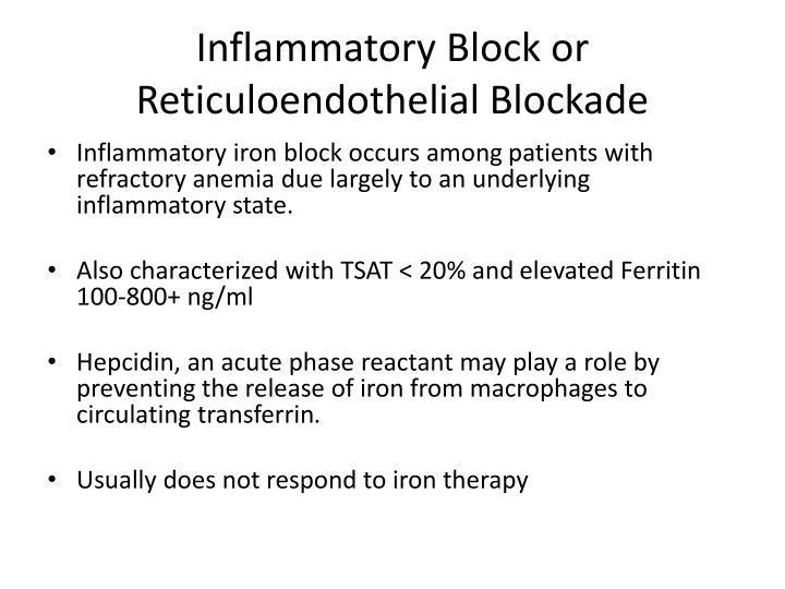 Inflammatory Block or Reticuloendothelial Blockade