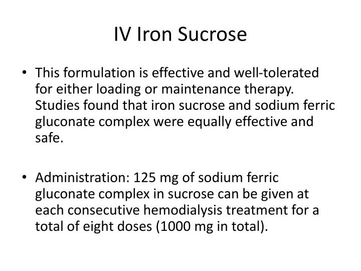 IV Iron Sucrose