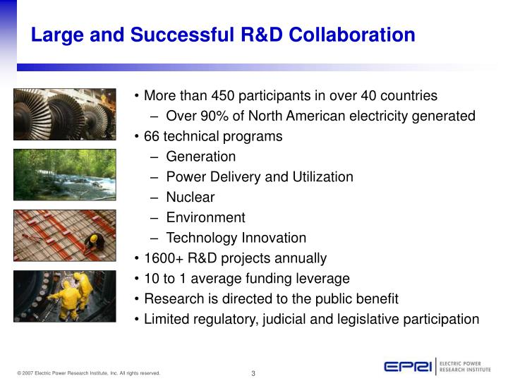 Large and Successful R&D Collaboration