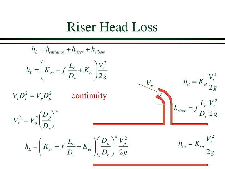 Riser Head Loss